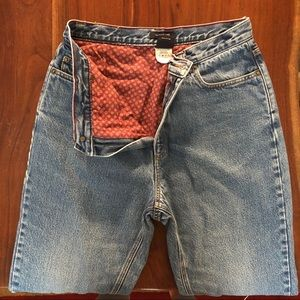 Vintage Flannel Lined Jeans Size 12